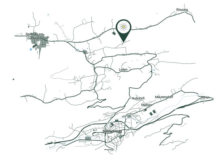 Jugendhotel Edelweiss Ramsau am Dachstein Karte Wegbeschreibung